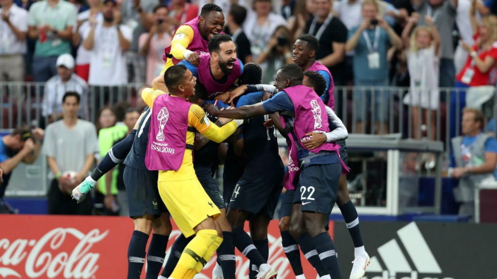WINNERS: Benjamin Mendy's France win the 2018 World Cup