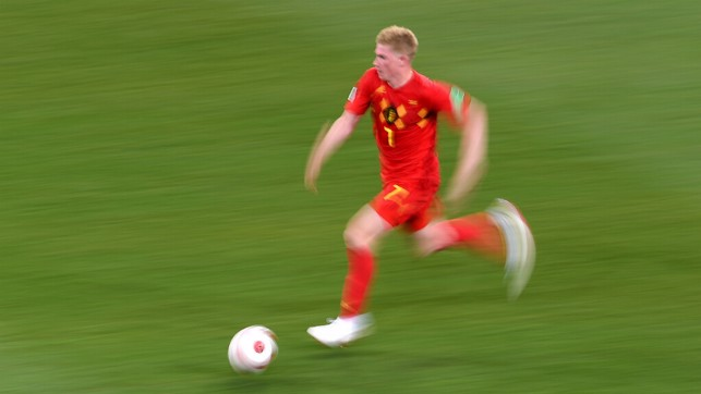 RAPID: Kevin De Bruyne in full flow. The playmaker played a key role, as Belgium snatched a dramatic 3-2 comeback triumph over Japan.