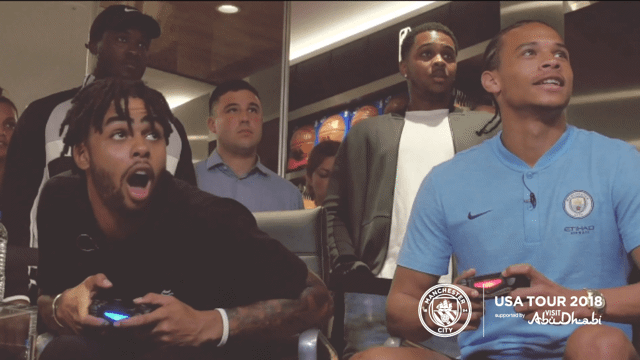 US TOUR 2018: D'Angelo Russell and Leroy Sane