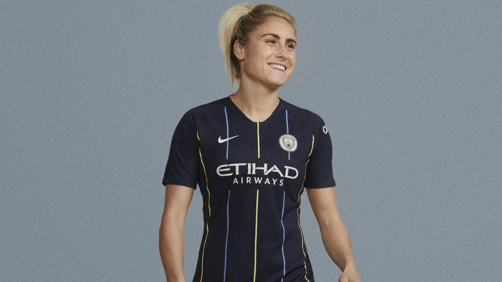 c40a4f174e6 ACTION STATIONS: Steph Houghton cuts a dash in our new 2018-19 away strip