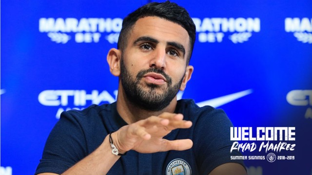 TRUE BLUE: New signing Riyad Mahrez says he can't wait to help the Club in their quest for success next season