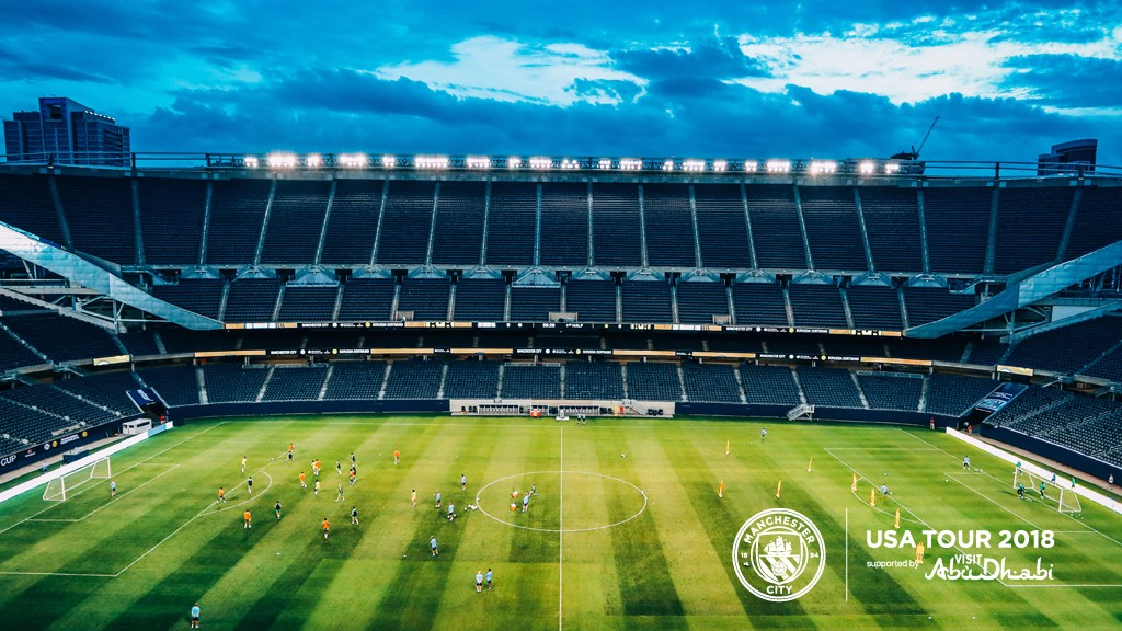 US TOUR 2018: The players took part in an open training session at Soldier Field