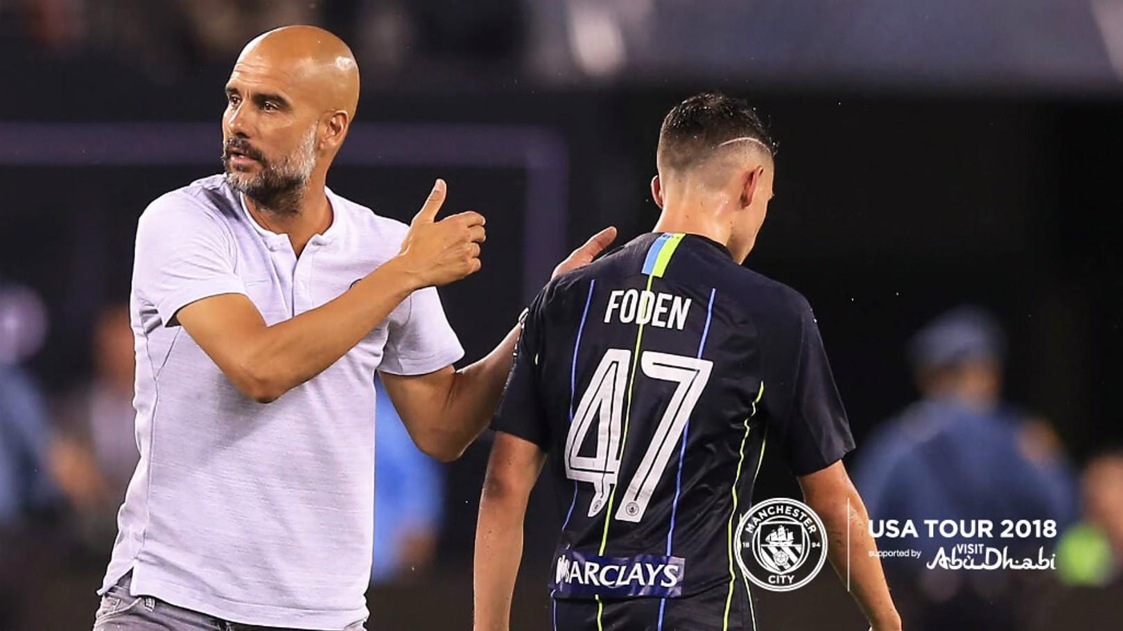 Pep Guardiolase dijo sentirse muy orgulloso por la actuación de los jóvenes.