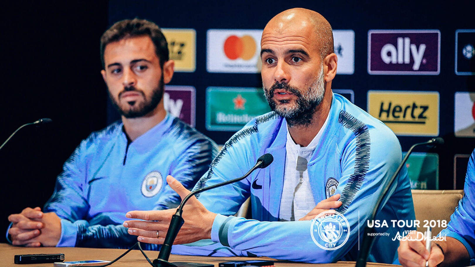 PRESS CONFERENCE:  Pep Guardiola addresses the media ahead of Wednesday's game..,