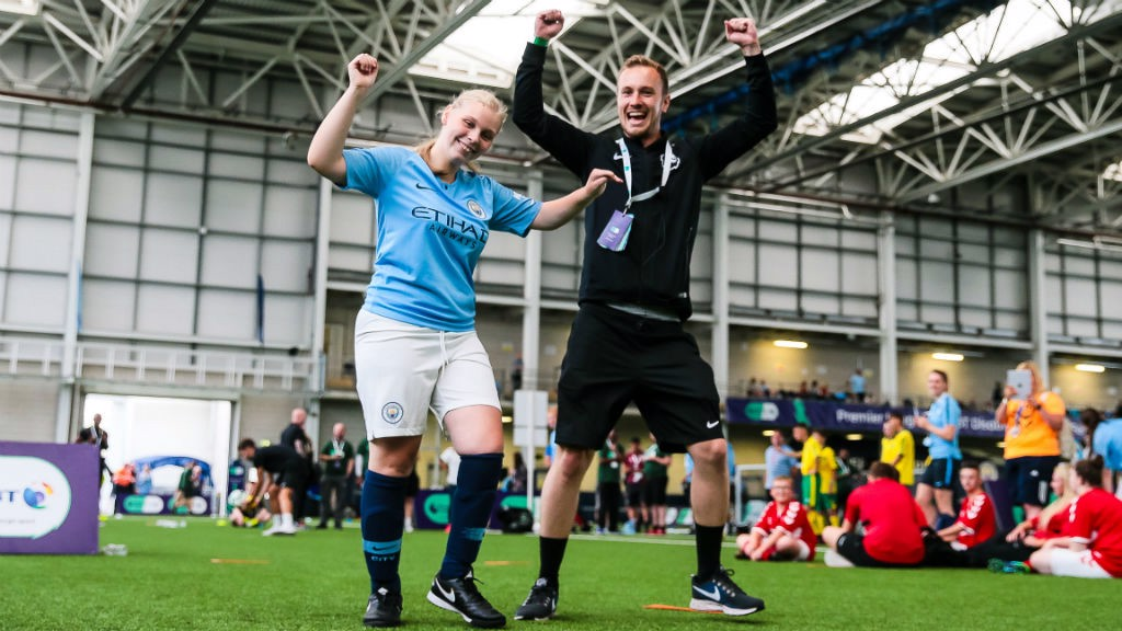 ALL SMILES: The Premier League BT Disability Football Festival proved a big success