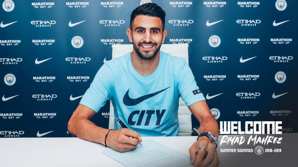 Riyad Mahrez assinou pelo Manchester City!