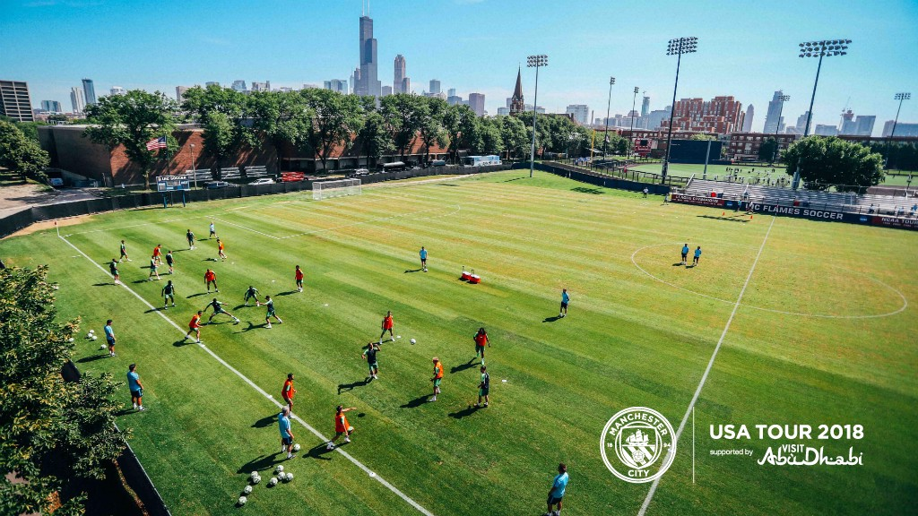 STUNNING CHICAGO: The team train at the University of Illinois, complimented by a glorious backdrop