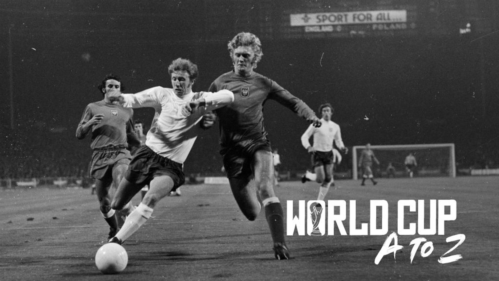 ACTION STATIONS: Colin Bell in action for England in their famous World Cup qualifier against Poland in 1973