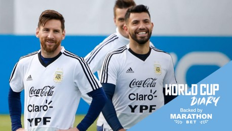 CENTRE OF ATTENTION: All eyes will be on Sergio Aguero, Lionel Messi and Argentina at the World Cup finals today