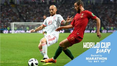 ديفيد سيلفا وبيرناردو سيلفا في مهمة خاصة مع منتخبي إسبانيا والبرتغال في كأس العالم.