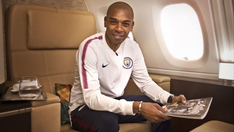 HIGH FLYER: Fernandinho is just one of the City Football Group's players to have felt the benefit of the Flying Fit initiative