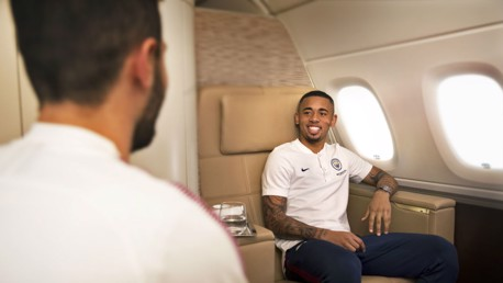 FLYING FIT: Gabriel Jesus says he and his Manchester City colleagues have felt the benefit of City Football Group's Flying Fit feature