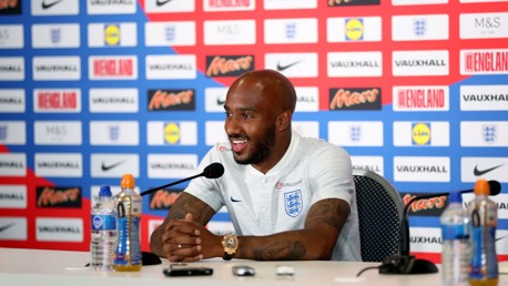 RUSSIA 2018: Fabian Delph addressed the press ahead of England's opening game against Tunisia