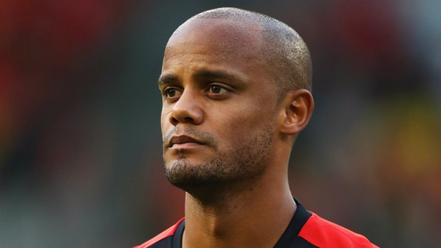 LEADER: Roberto Martinez says Vincent Kompany's leadership is key for Belgium