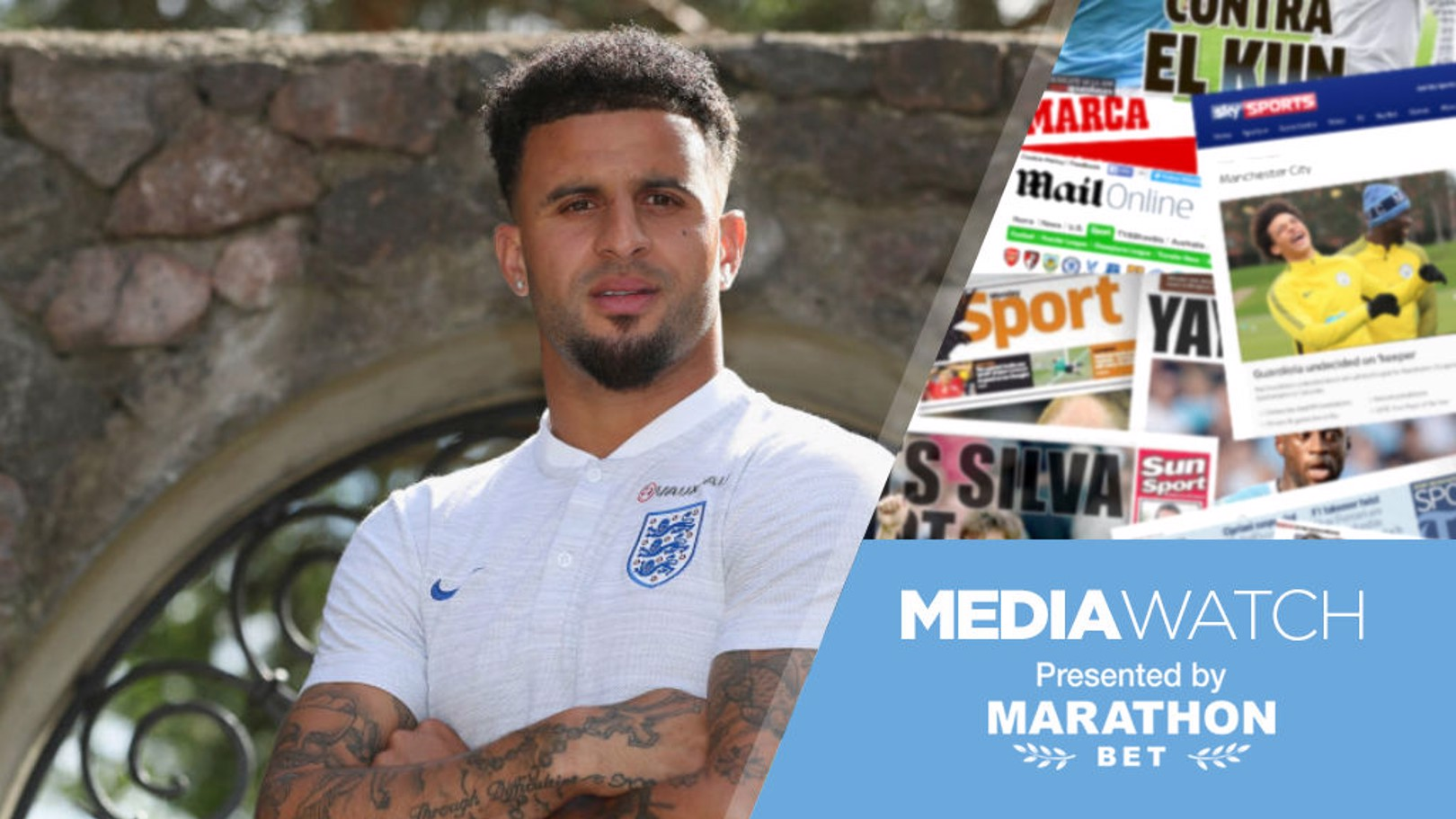 WORLD CUP PEP TALK: England and City defender Kyle Walker was boosted by a phone call from Pep Guardiola