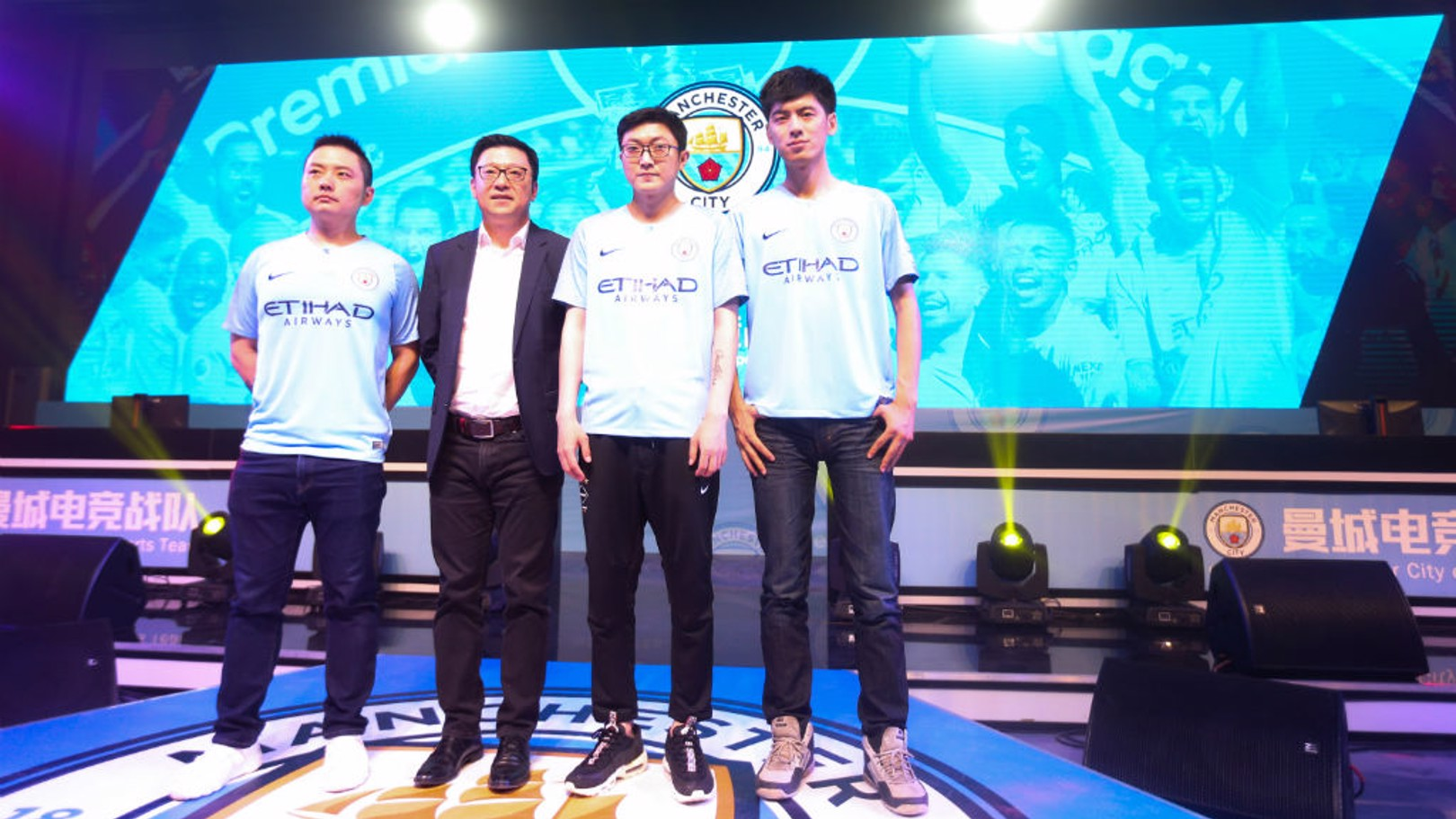 PIONEERS: Members of the FIFA Online team at the esports launch in China