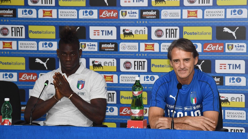 FATHER FIGURE: Mario and Roberto reunited