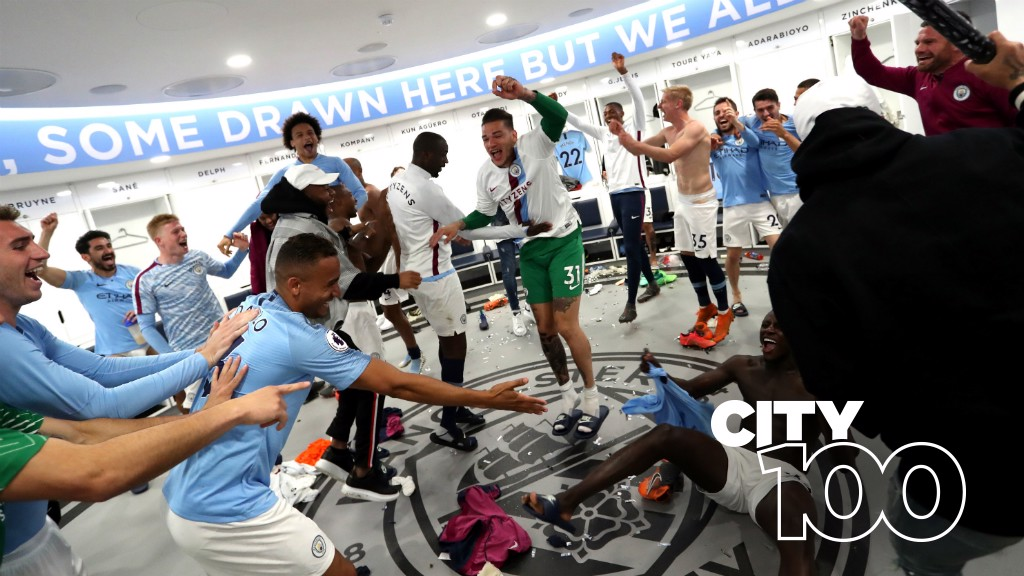CHAMPAGNE SUPERNOVA: City listen to Oasis in the dressing room before games...