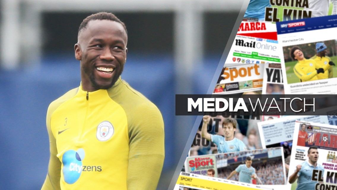 GLORY: Bacary Sagna has tipped City for Premier League domination and Champions League success...