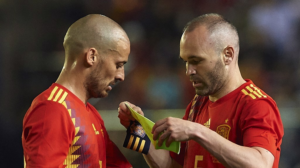 MASTERFUL: What a midfield Spain did have... Silva and Iniesta have now retired from national service