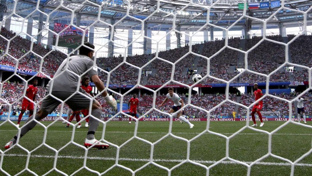 GOLDEN MOMENT: John Stones heads home England's opening goal