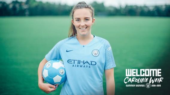 WELCOME: Caroline Weir.