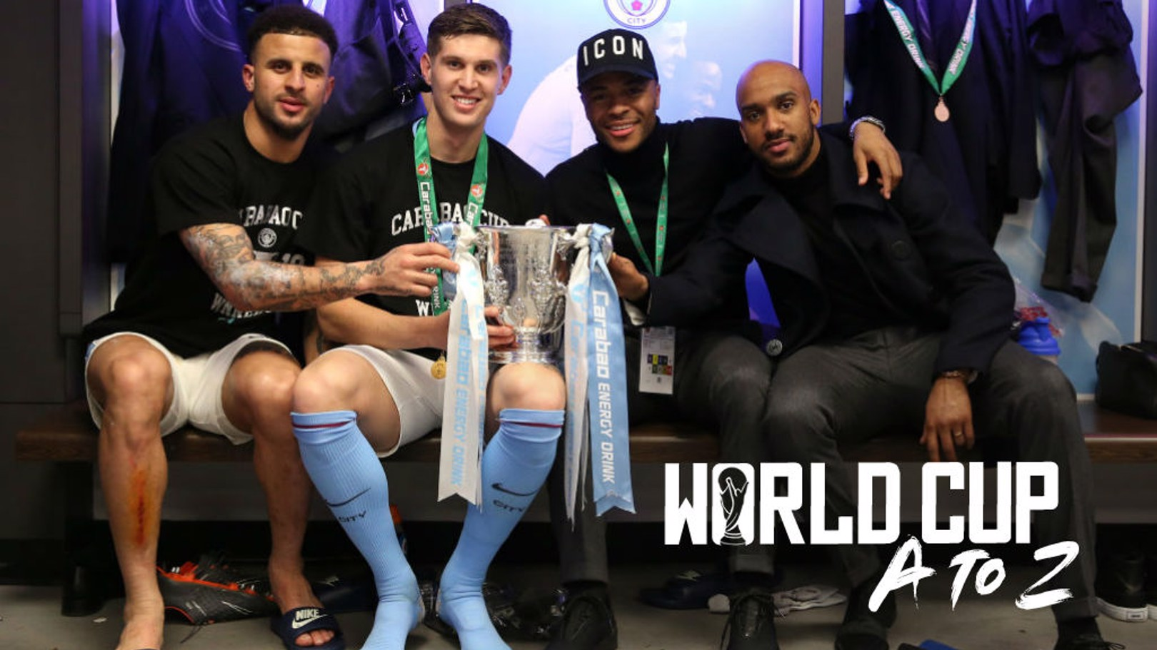 FAB FOUR: Kyle Walker, John Stones, Raheem Sterling and Fabian Delph will all be crucial to England's World Cup hopes in Russia