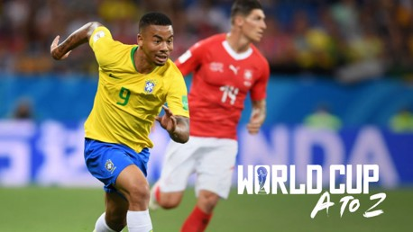 ON THE FRONT FOOT: Gabriel Jesus in action for Brazil at Russia 2018