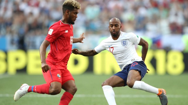 FOUR TOPS: Fabian Delph became the fourth City player to figure for England at the 2018 World Cup when he came on against Panama