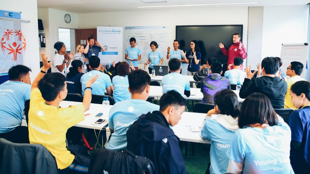 LENDING A HAND: During the summit Young Leaders took part in classroom based workshops supported by Etihad Airways and Special Olympics