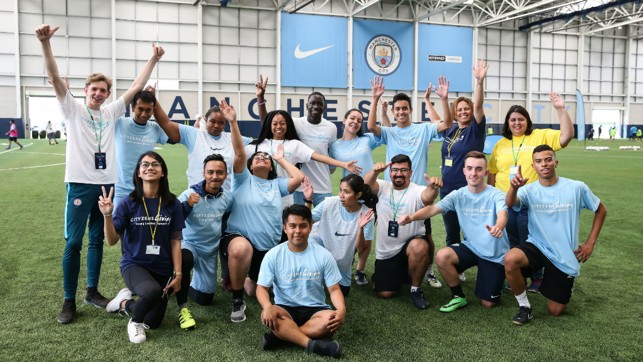 It was a successful first day at the City Football Academy for our Young Leaders