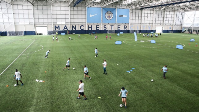 The impressive indoor pitch played host to an action-packed first day of events