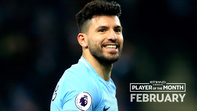 WINNER: Aguero was handed the Etihad Player of the Month award during the recent trip to Abu Dhabi