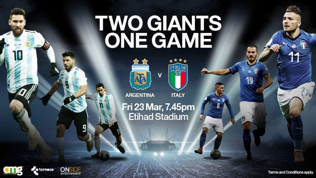 Image result for argentina vs italy etihad stadium