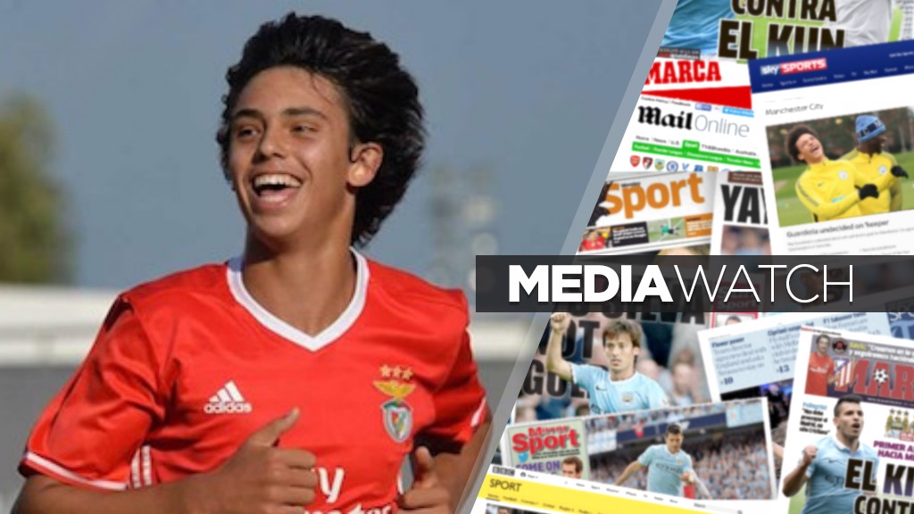 TARGET?: It's claimed City are set to battle Arsenal for Benfica youngster Joao Felix.
