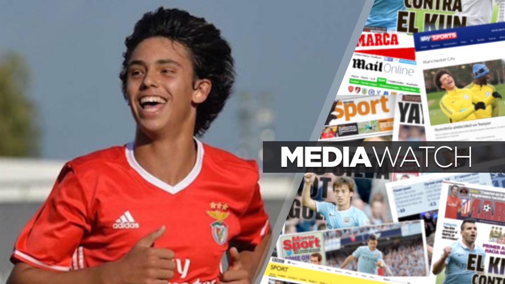 صحف تشير إلى منافسة من أجل ضم لاعب بنفيكا الشاب جواو فيلكس.