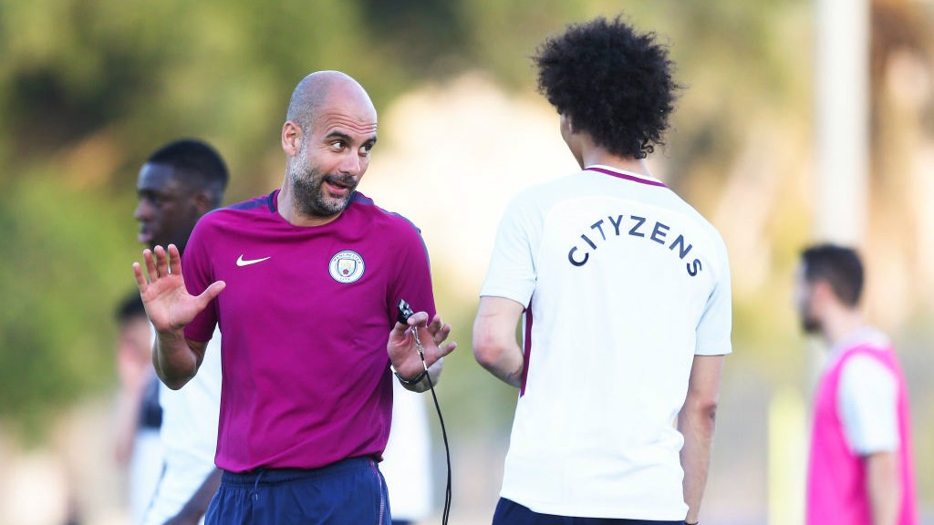 Image result for pep guardiola training 2018