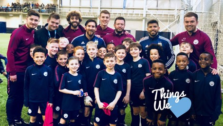 THINGS WE LOVE: Lionel Messi made a surprise visit our the City Academy this week.