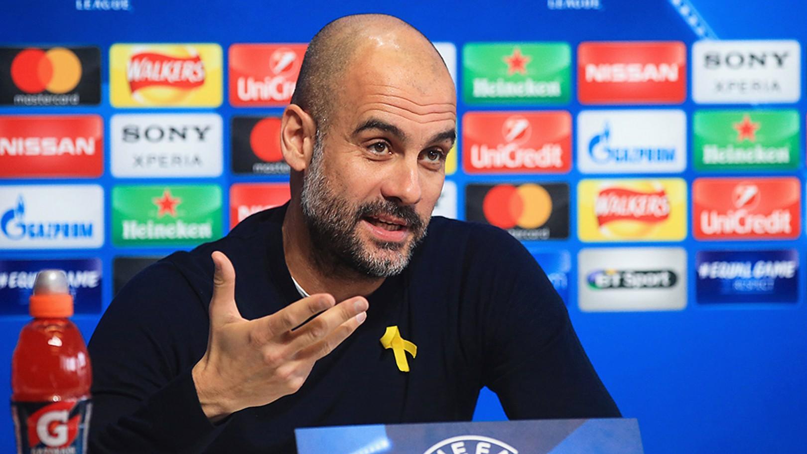 UPDATE: Boss Pep Guardiola