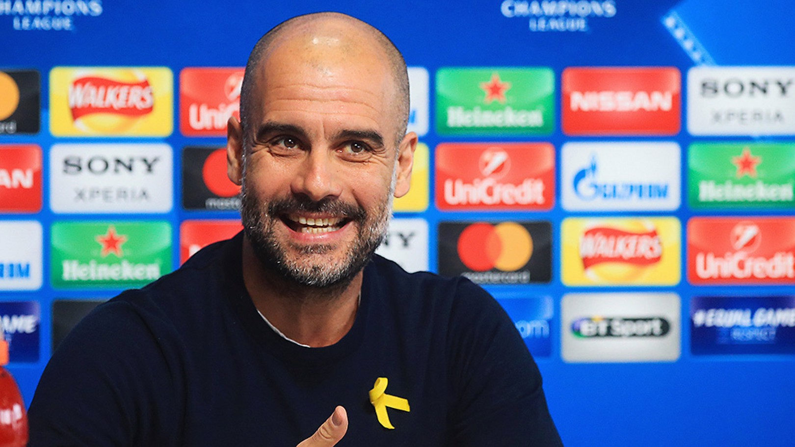 PREVIEW: Pep Guardiola in conversation with journalists ahead of the Champions League game against FC Basel.