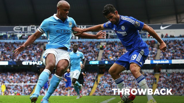 BATTLE OF THE BLUES: Kompany and Costa