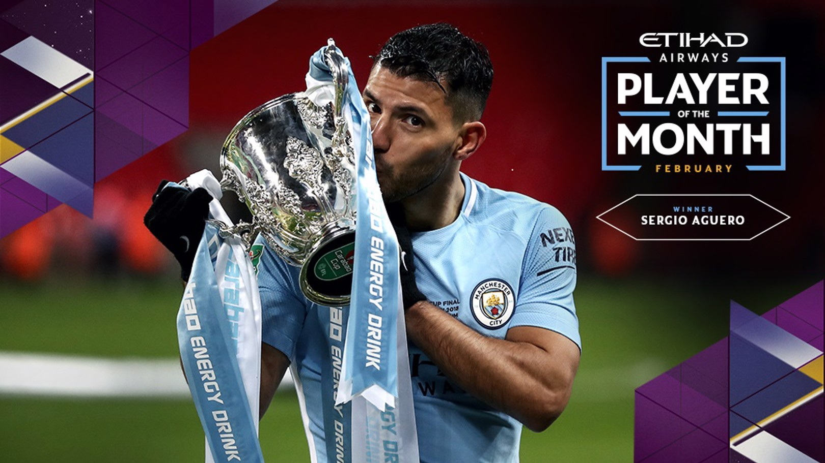 Aguero named Etihad Player of the Month