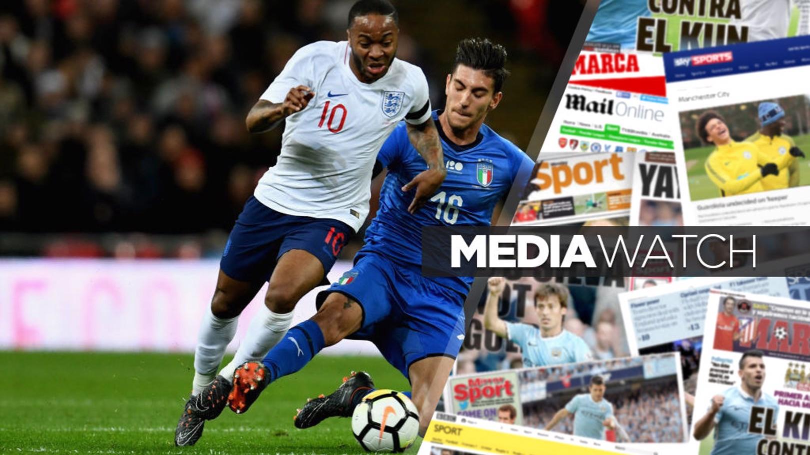 رحيم سترلينج تألق مع المنتخب الإنجليزي أمام إيطاليا في ويمبلي.