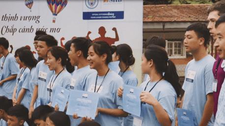 ผู้นำเยาวชนเวียดนามเข้ารับการอบรมกับโครงการซิตี้เซ่น กีฟวิ่ง