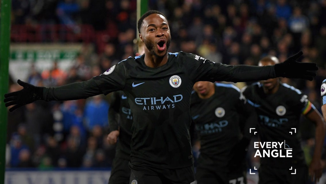 REBOOT: Here's Raheem Sterling's crucial winner against Huddersfield from Every Angle