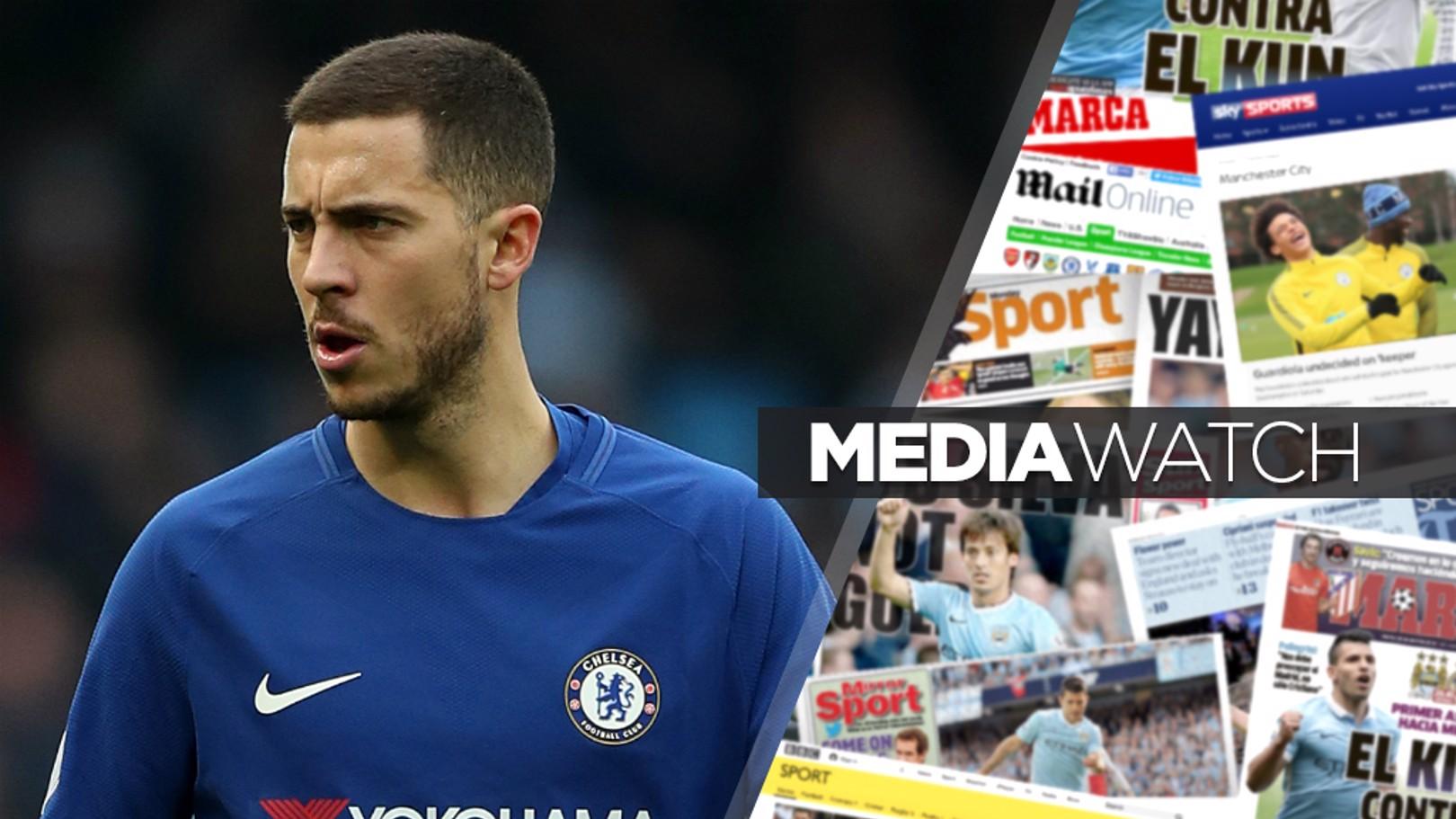 HAZARD AHEAD?: It's claimed City are eyeing a sensational £100million swoop for Eden Hazard...