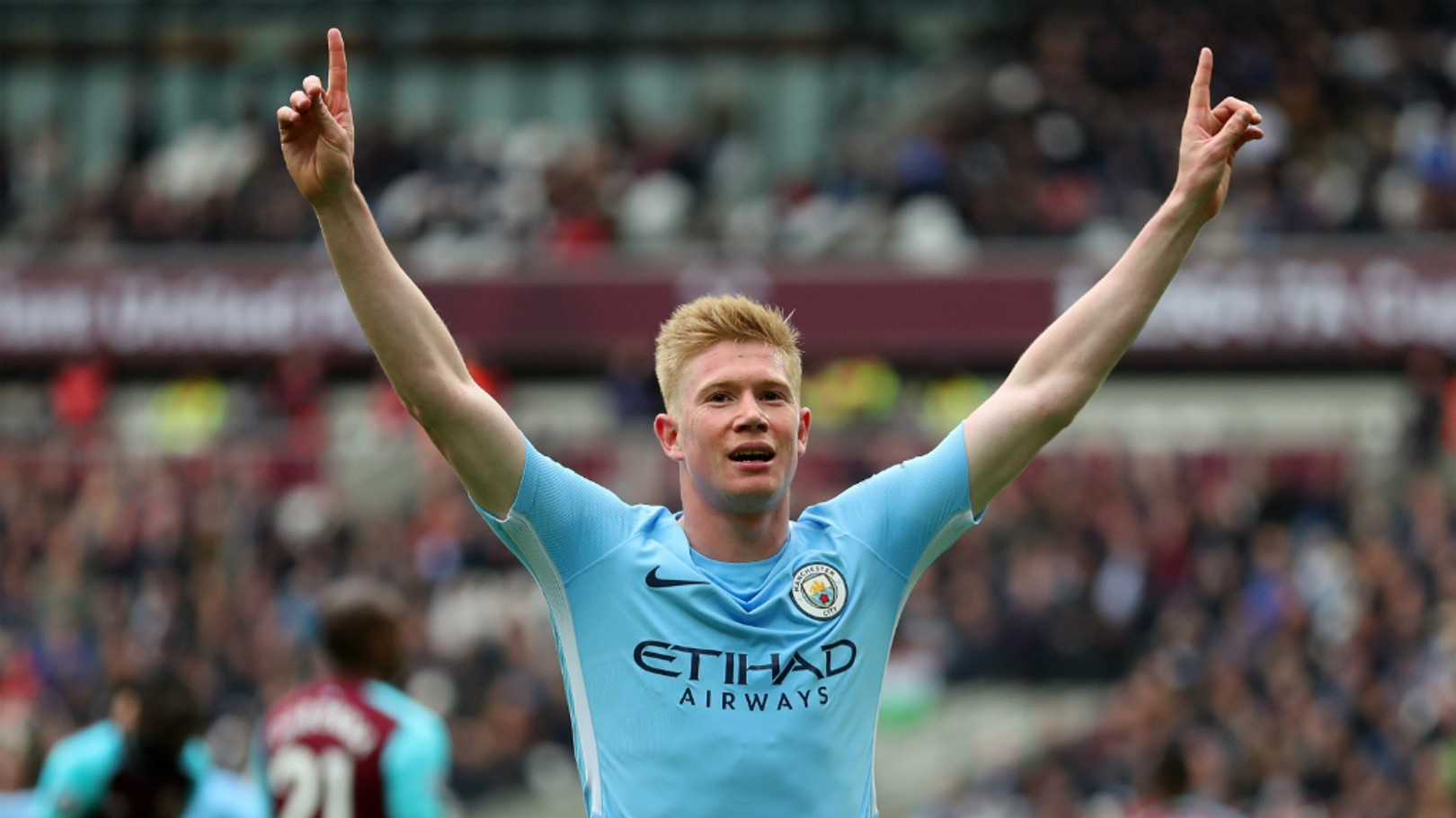 BELGIAN BLUE: Kevin De Bruyne has been named the Etihad Player of the Season...