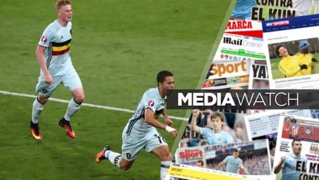 BELGIAN BOYS: Kevin De Bruyne and Eden Hazard