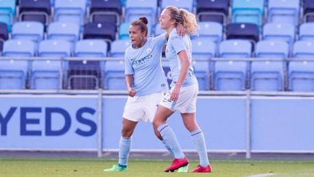 DYNAMIC DUO:  Nikita Parris and Claire Emslie were both on the scorsheet against Yeovil
