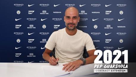 เป๊ป กวาร์ดิโอล่า ต่อสัญญาฉบับใหม่กับซิตี้ ถึงปี 2021